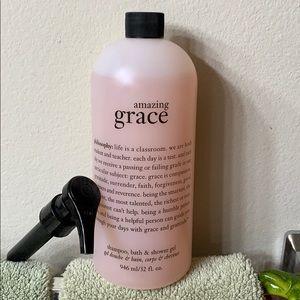 Amazing Grace shampoo, bath & shower gel.  32 oz.